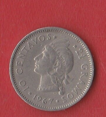 R Dominicana 10 Cents 1867