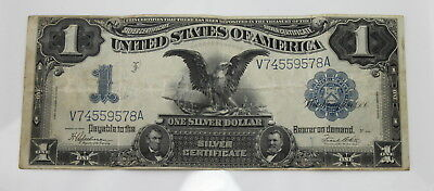 Series Of 1899 U.s. $1 Large Silver Certificate Black Eagle Note No Reserve#1655