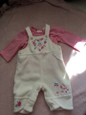 🌟 Super Cute! 🌟 F&F Baby Top and Mini Mode Baby dungarees 🎀 Brand New 🌸