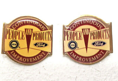 Collectible Ford Motors People & Product Continuous Improvement Advertising Pin