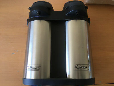 New Coleman  Stainless Steel DOUBLE Air Pot  RARE