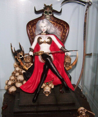 Phicen 1/6 Lady Death on throne deluxe set Deaths Warrior V2