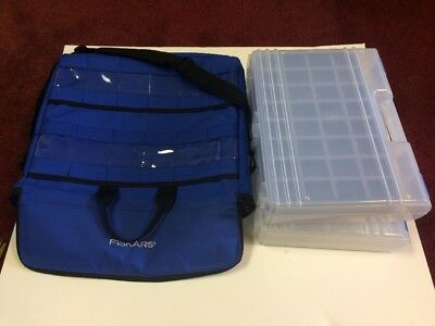 Fiskars Craft Art Scrapbooking Bag With 2 Totes And 1 Tray