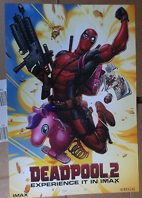Deadpool 2 Pink Pony Imax Regal Limited Edition 13X19 Regal Art Print Poster New