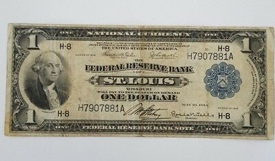 1918 $1 St. Louis National Currency Note