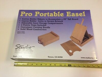 New In Box Wooden Portable Art Easel For Painting Drawing Sketching
