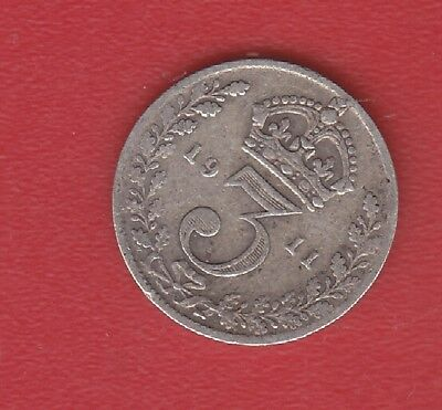 Great Britain 3 Pence 1911 Silver