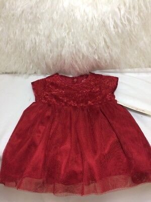 d085cdcc6c07 Nwt Baby Infant Cat & Jack Christmas Red Sequin Size 3-6 M Sleeveless Dress