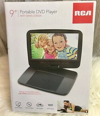 Brand New!! In Box RCA 9' Portable DVD Player with swivel screen DRC98090