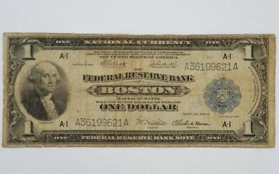 1918 $1 Boston National Currency Note