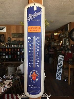 Vintage Larger Older Packard Thermometer Detroit Michigan