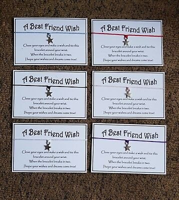 Wholesale * Bulk * Job Lot * Best Friend * Make A Wish Bracelet * Friendship *