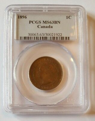 1896 Canadian Large Cent PCGS Graded MS^#BN