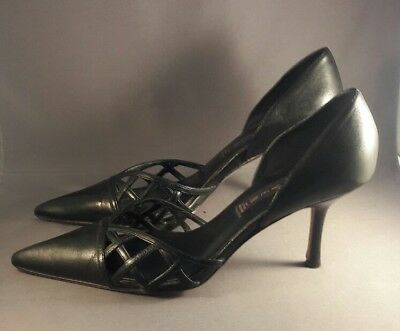 5bb5e7f3ee7 Steven By Steve Madden Black Leather Pointed Toe Shoes Womens Size 7.5M Euc