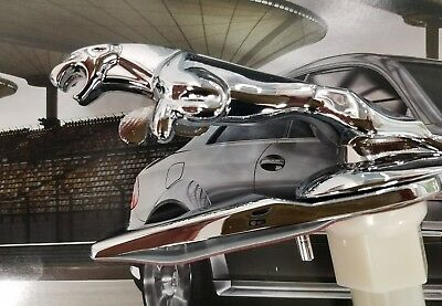 NEW Jaguar s-type x-type Chrome Leaper Leaping Cat Hood Ornament Emblem Badge 3D