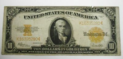 $10 Dollar Gold Certificate Large Size Bank Note 1922 #K16395280