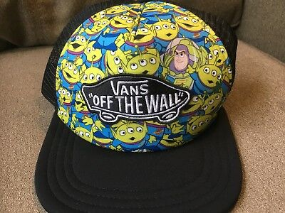 VANS TOY STORY Aliens buzz Mens Hat Pizza Planet Andy DISNEY PIXAR Snapback  Cap 87b433f91bd3