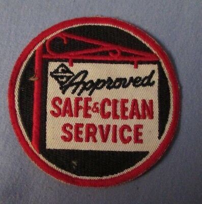 """4"""" round SKELLY Approved Safe & Clean Service embroidered uniform or hat patch"""