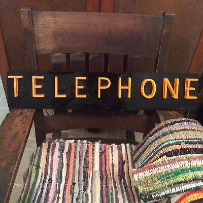 Vintage Telephone Sign Late 40's-50's