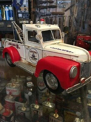 Tin Toy Tow Truck