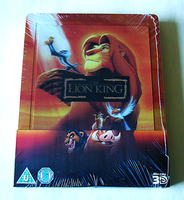 The Lion King 3D Limited Edition Lenticular Steelbook  Brand New
