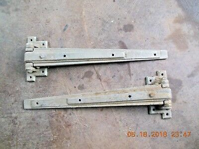2 Rustic, Old, Heavy Iron Barn Door - Gate Or Other, T-Strap Hinges 24 X 8
