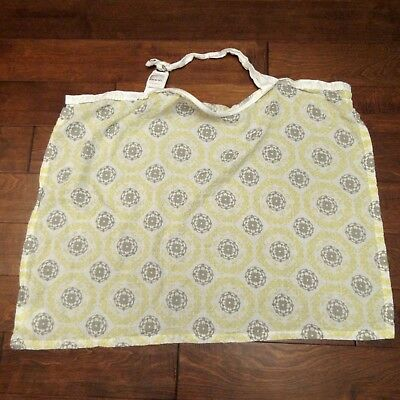 bebe au lait Pure & Simple Yellow Gray Geometric Print Baby Nursing Cover