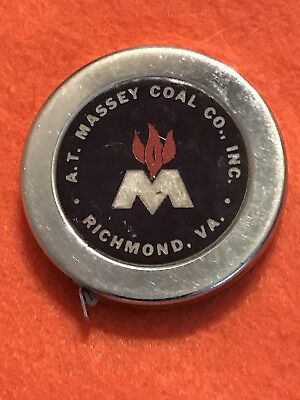 Vintage A T Massey Coal Co Advertising Tape Measure