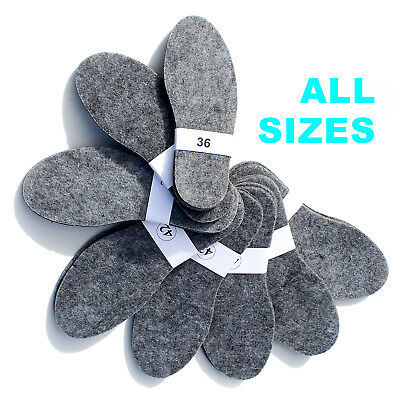 All Sizes - Felt Shoes Insoles Inner For Boots, Shoes - Mens, Ladys, Unisex
