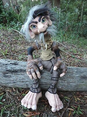 Giant poseable ooak handmade Forest Gnome Large doll sculpture native tribal