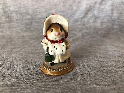 WEE FOREST FOLK Christmas Holly Miss Noel MOuse Annette Petersen White Coat