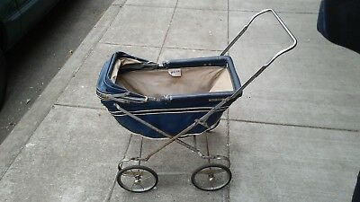 Vintage Baby Carriage / Stroller by WELSH EASY-FOLD CARRIAGES; FAST S&H