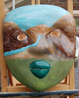 Painted Ceramic Face Mask