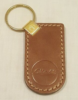 Vintage Brown Genuine Leather OLDSMOBILE Keychain Key Chain - New/Old Stock