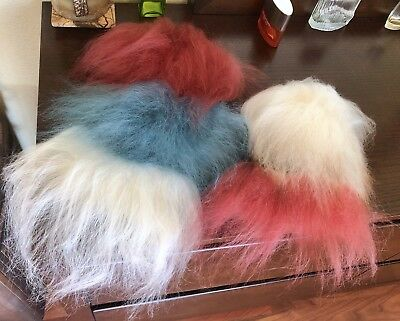 Troll Doll Replacement Hair - Big 5 Piece Lot Of Real Fur Hair For Wigs.