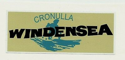 SURFBOARDS Vintage / Retro Sticker Decal 1970s LONGBOARD SURFER SURF CRONULLA