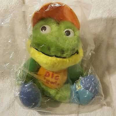 Sugar Snaps Collectible Dig 'Em Plush Frog (Kelloggs Dakin 1980) New In Package
