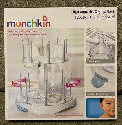 New Munchkin High Capacity Spinning Baby Bottle Cup Drying Rack