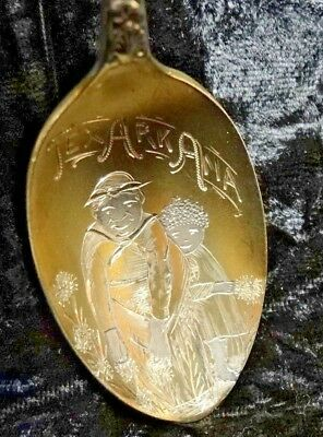 Antique Towle & Son 1899 Texarkana Arkansas Texas Souvenir Spoon Black Americana