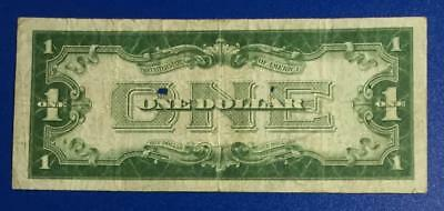 "1928 $1 Blue ""FUNNY BACK"" SILVER Certificate X844 Rough! Old US Currency"