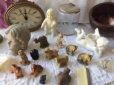 Vintage Assorted Collectible Mixed Items Junk Drawer Lot Trinkets figurines