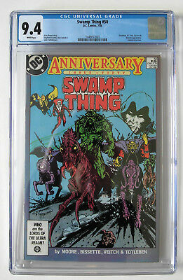 Swamp Thing #50 Cgc 9.4  White Pages!  1St Justice League Dark!