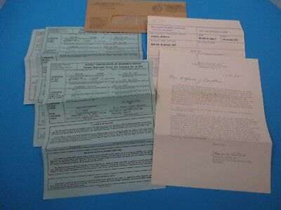 Vintage 1952 Department of the Army Certificate of Insurance Status Letter S6967