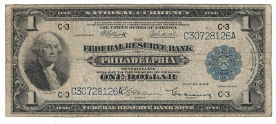 U.S. (Philadelphia, PA) - Series of 1918 $1.00 Federal Reserve Bank Note