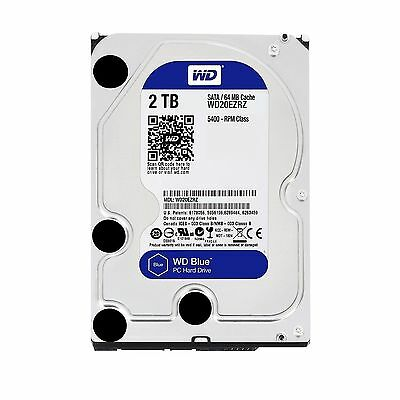 Western Digital 2TB Hard Drive Disk Internal SATA 2000GB WD Blue Desktop HDD 3.5