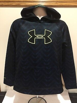 Under Armour Storm 1 Hoodie Navy Black Loose Size Yxl Youth