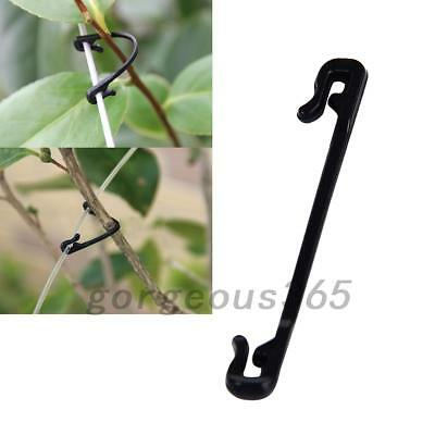 100Pcs Adjustable Plastic Garden Plant Vegetable Cable Clip Ties Supporter New