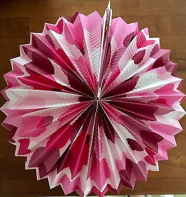 Lantern CLAM SHELL POLKA DOT SUNBURST Mid Century Retro Party PINK