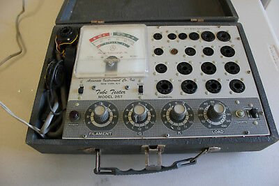 Vintage Accurate Instruments Model 257 Tube Tester,Tested 6AK5 Passed, no manual