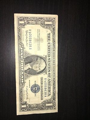 1957 $1 SILVER Certificate Old US Currency